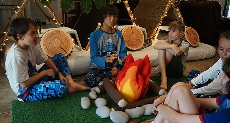 Camouflage or Safari teepee party, glamping party theme, Teepee Party Scottsdale (12)1