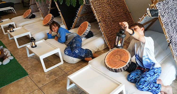 Camouflage or Safari teepee party, glamping party theme, Teepee Party Scottsdale (3)1